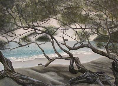 Mangrove Forest Painting - Trees In Costa Rica by Svetlana Rudakovskaya