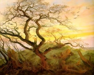 Caspar Digital Art - Trees Of Crows by Caspar David Friedrich