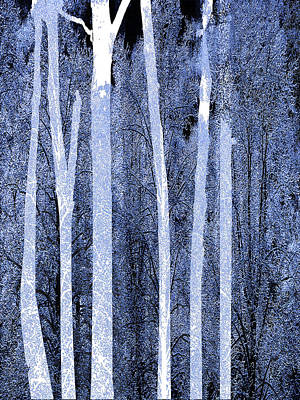 Snowed Trees Mixed Media - Trees Vertical by Tony Rubino