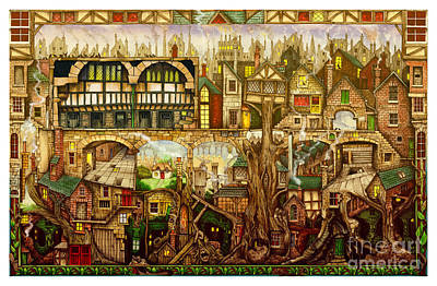 Treetown Print by Colin Thompson