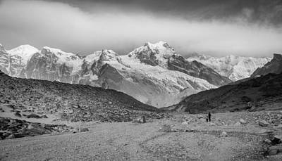 Himalayas Photograph - Trekking To Kanchenjunga by Helix Games Photography