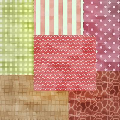 Patchwork Quilts Mixed Media - Trendy Patchwork Quilt by Tracie Kaska