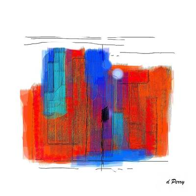Digital Art - Trepidation by D Perry