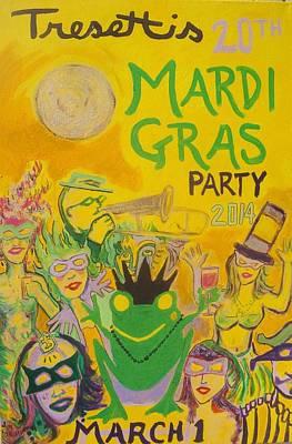 Mardi Gras Painting - Tresetti's Mardi Gras 2014 by James Christiansen