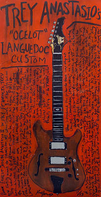 Guitar Painting - Trey Anastasio Languedoc Guitar by Karl Haglund