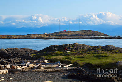 Trial Island And The Strait Of Juan De Fuca Print by Louise Heusinkveld