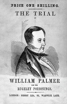 Trial Of William Palmer Print by National Library Of Medicine