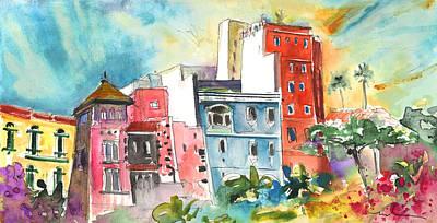 Canary Drawing - Triana In Las Palmas De Gran Canaria by Miki De Goodaboom
