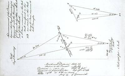 Triangulation Calculation Print by Royal Astronomical Society
