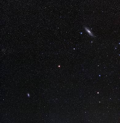 Andromeda Photograph - Triangulum And Andromeda Galaxies by Eckhard Slawik