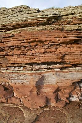 Triassic Photograph - Triassic Rock Formations, Uk by Science Photo Library