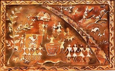 Warli Painting - Tribal Art by Geeta Biswas