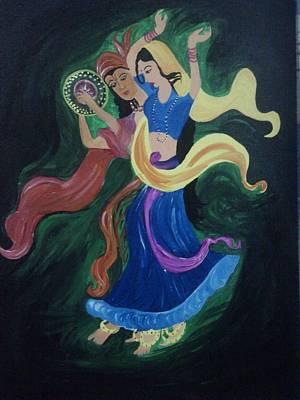 First Tribes Painting - Tribal Dance by Shubha Tiwari