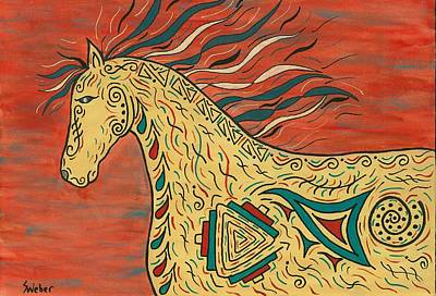 Tribal Spirit Horse Print by Susie WEBER