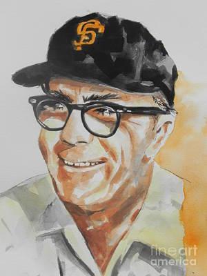 Baseball Card Painting - Tribute To Edward Logan My Grandfather  by Chrisann Ellis