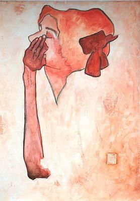 Tribute To Egon Schiele 3 Original by Husnu Konuk
