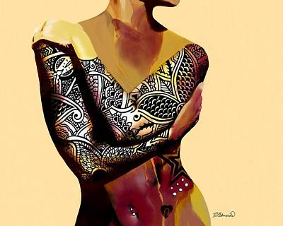 Tattoo Digital Art - Trice 2 by Cindy Edwards