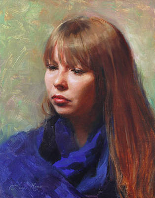 Portraits Oil Painting - Tricia by Anna Rose Bain