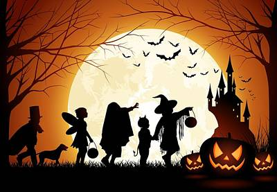 Trick Or Treat Print by Gianfranco Weiss