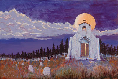 Cemetary Painting - Trick Or Treat by Jerry McElroy