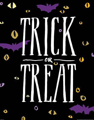 Treats Painting - Trick Or Treat by Wild Apple Portfolio