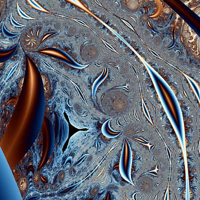 Abstract Digital Digital Art - Tricorn In A Strange Land by Mark Eggleston