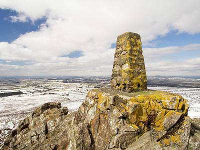 Drifting Snow Photograph - Trig Point by Ashley Cooper