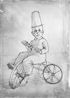 Tricycle Drawing - Trike by H James Hoff