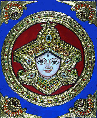 trinetra Durgaji Print by Vimala Jajoo