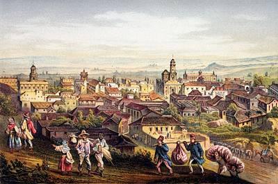 City Scenes Drawing - Trinidad, Cuba, 1840 by Federico Mialhe