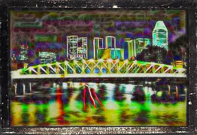 Manipulation Photograph - Trip The City Lights by Mario Carini