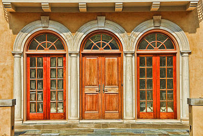 Triple Doors Print by Ray  White