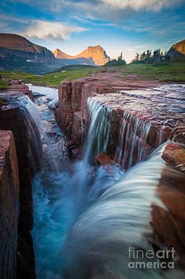 Reynolds Photograph - Triple Falls Cascades by Inge Johnsson