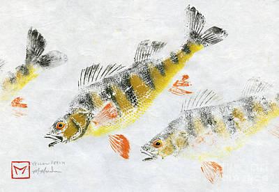 Triple Perch Print by Matt Monahan