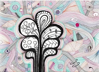 Trippy Trees Print by Lori Thompson