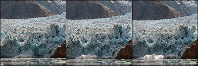 Triptych Of Sawyer Glacier, Southeast Print by Panoramic Images