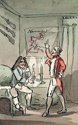 Tristram Shandy, 1786 Wc On Paper Print by John Nixon