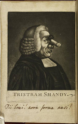 Tristram Shandy By Laurence Sterne Print by British Library