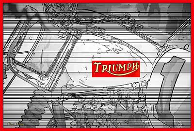 Triumph B W Original by Chuck Staley