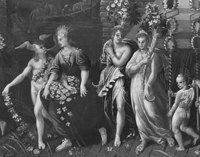 Triumph Of Spring Print by Antoine Caron