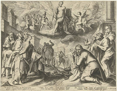 Triumph Of Truth Print by Possibly Nicolaes Jansz. Clock