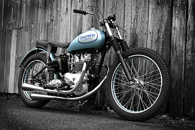 Motor Sports Photograph - Triumph T100 R Class C Flat Track Racer by Mark Rogan