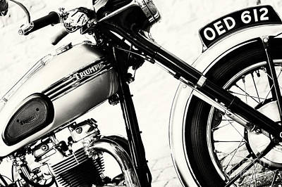 Triumph Tiger T110 Motorcycle Toned Print by Tim Gainey