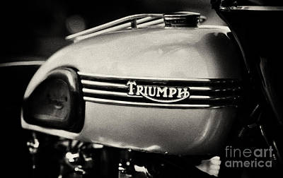 Sixties Photograph - Triumph Tiger T110 Tank  by Tim Gainey