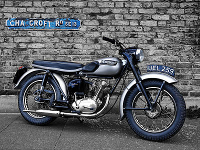Tiger Photograph - Triumph Tiger Cub by Mark Rogan