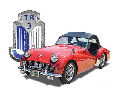 Triumph Tr-3 Print by Dan Knowler