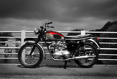 Motorcycle Photograph - Triumph Trophy Tr6 1962 by Mark Rogan