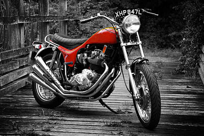Vintage Motorcycle Photograph - Triumph X-75 Hurricane by Mark Rogan