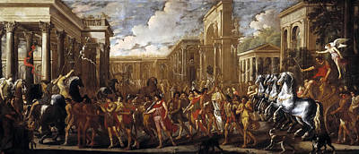 Domenico Gargiulo Painting - Triumphal Entry Of Vespasian In Rome by Viviano Codazzi and Domenico Gargiulo