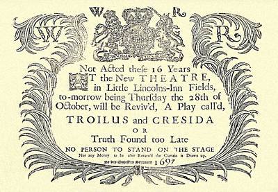 Stratford Mixed Media - Troilus And Cresida Playbill by Charlie Ross